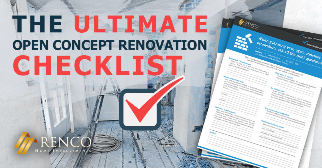 interior open concept renovation checklist