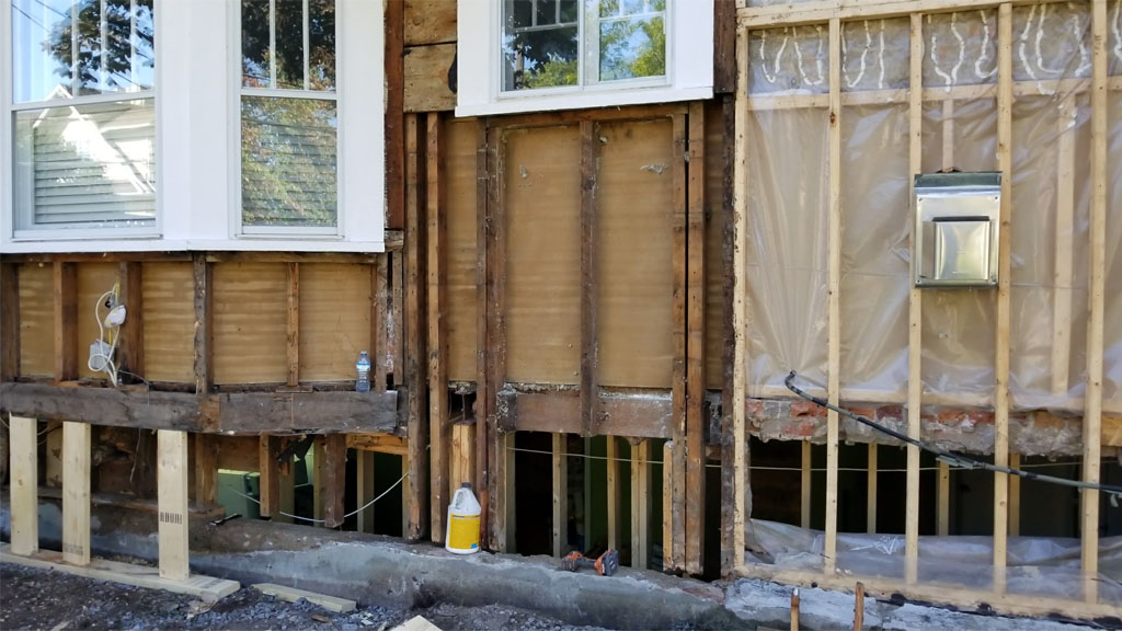 wood siding water damage
