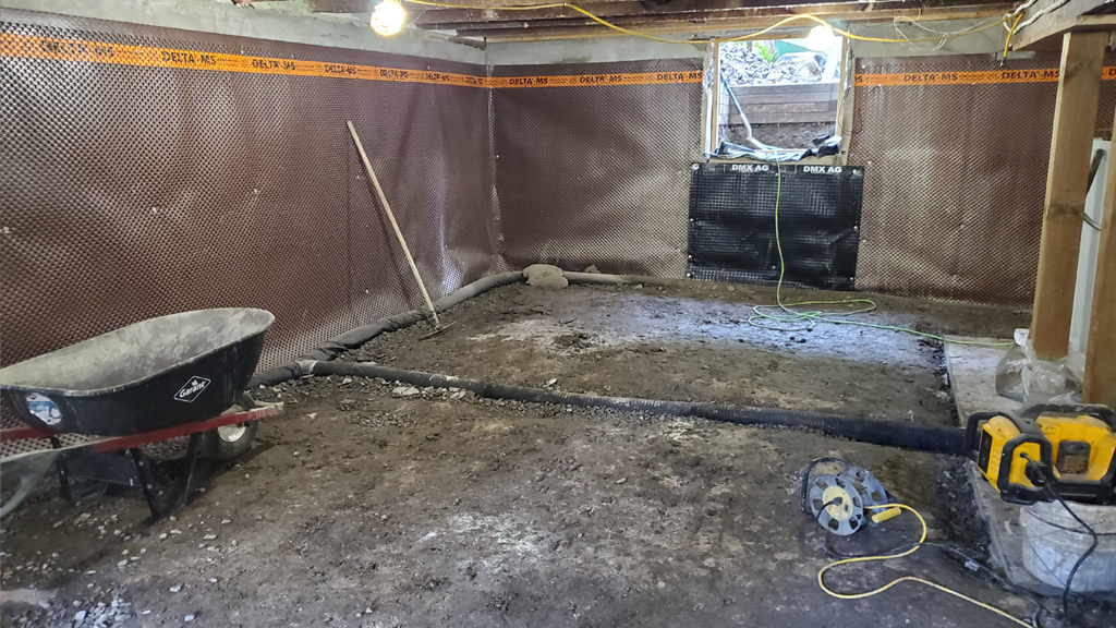 basement-foundation-drainage-install